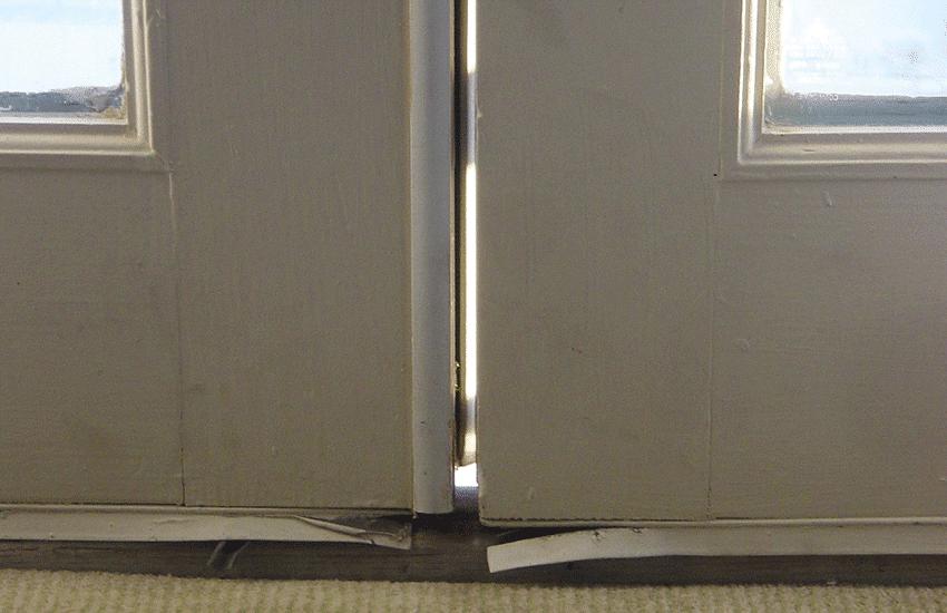 Gap between french doors.