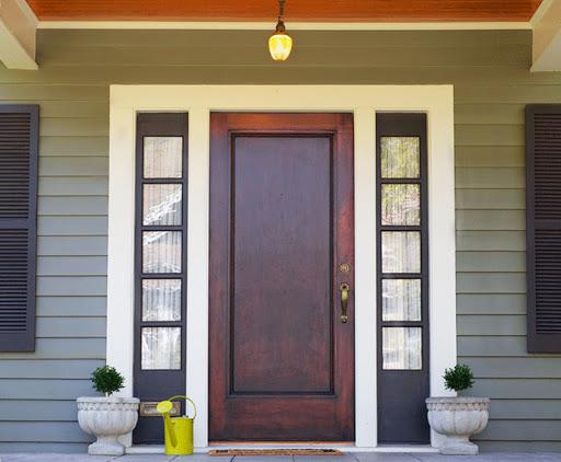 Basic Wood Exterior Door on