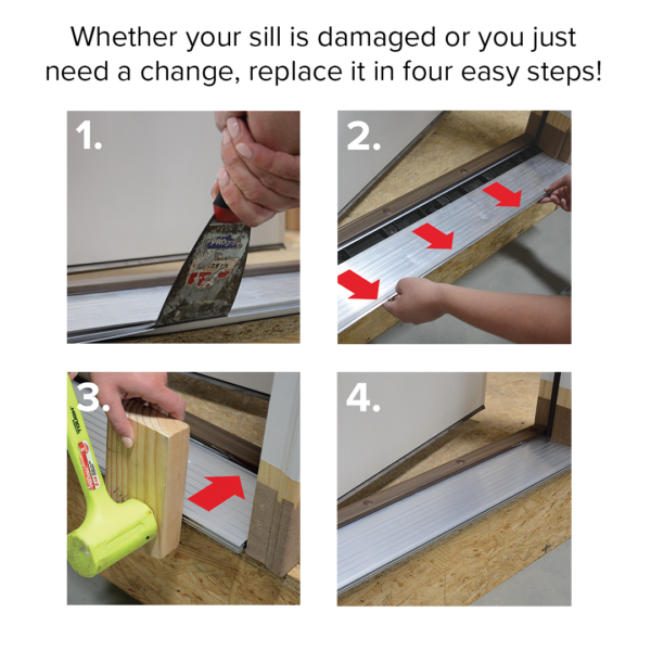 replace your damaged sill deck in four easy steps